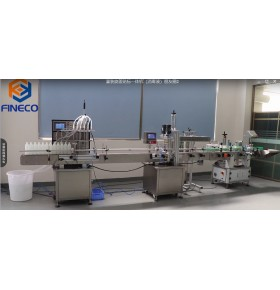 All-in-one machine for filling, capping and labeling(for disinfectant)