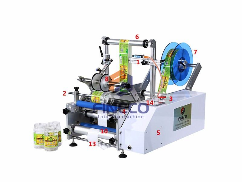 FK603 Semi Automatic Round Bottle Labeling Machine