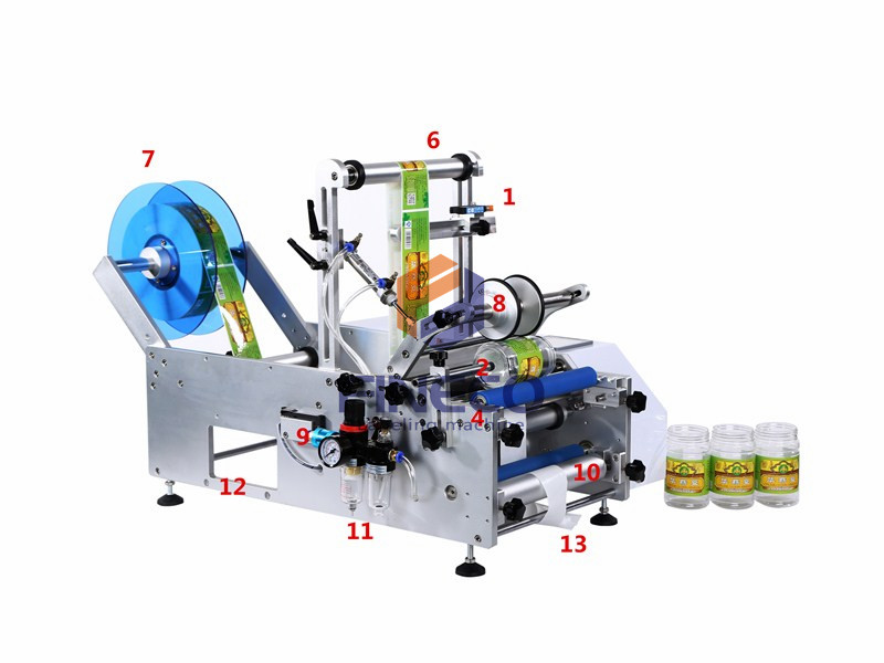 FK602 Semi Automatic Wine Bottle Labeling Machine